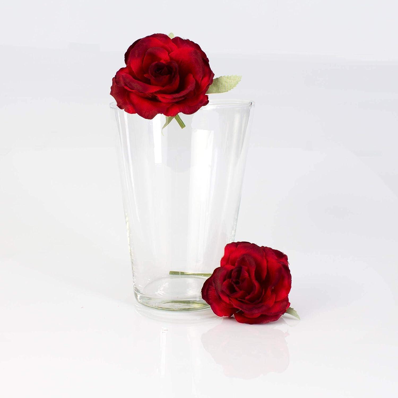 19,5 cm Vaso per Orchidee//Vaso Ornamentale /Ø 14 cm Trasparente INNA-Glas Set di 2 x Vaso da Tavolo Conico Jenny in Vetro