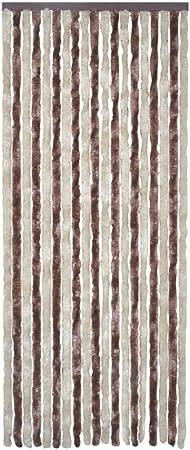 vidaXL Cortina Mosquitera Marrón Beige 90x220 cm Tela Antimosquitos Insectos