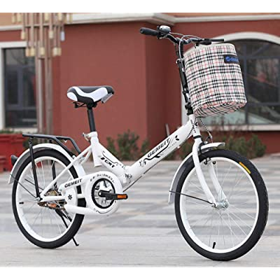 LINGS Foldable Bicycle Kids' Bikes 16 inch Folding Bike Adult Child Bike Student car: Home & Kitchen