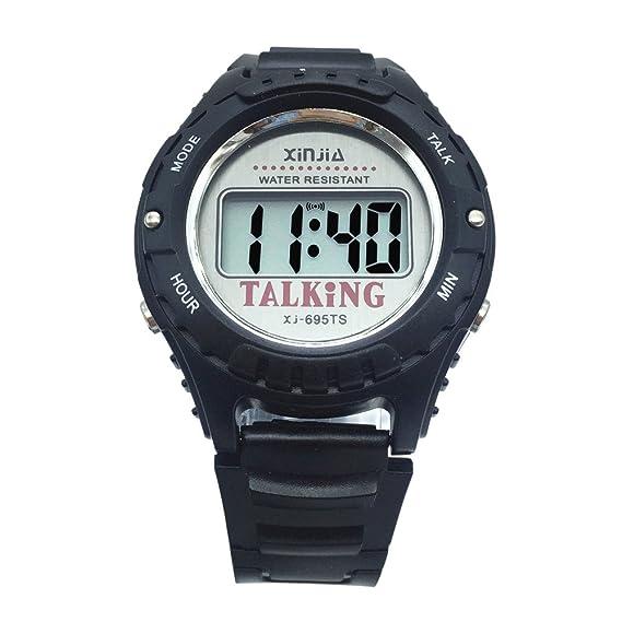 Nergo Reloj Parlante en Español para Ciegos, Niños, y Los Ancianos, Deportes Electrónicos Hablar Relojes Gatget Regalo: Amazon.es: Relojes