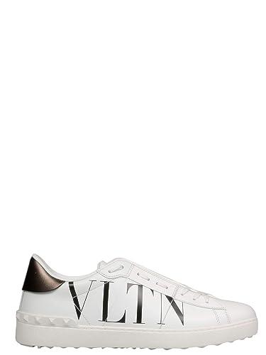 66a1ae93de1e0 VALENTINO GARAVANI Men's RY2S0830PSTA01 White Leather Sneakers ...