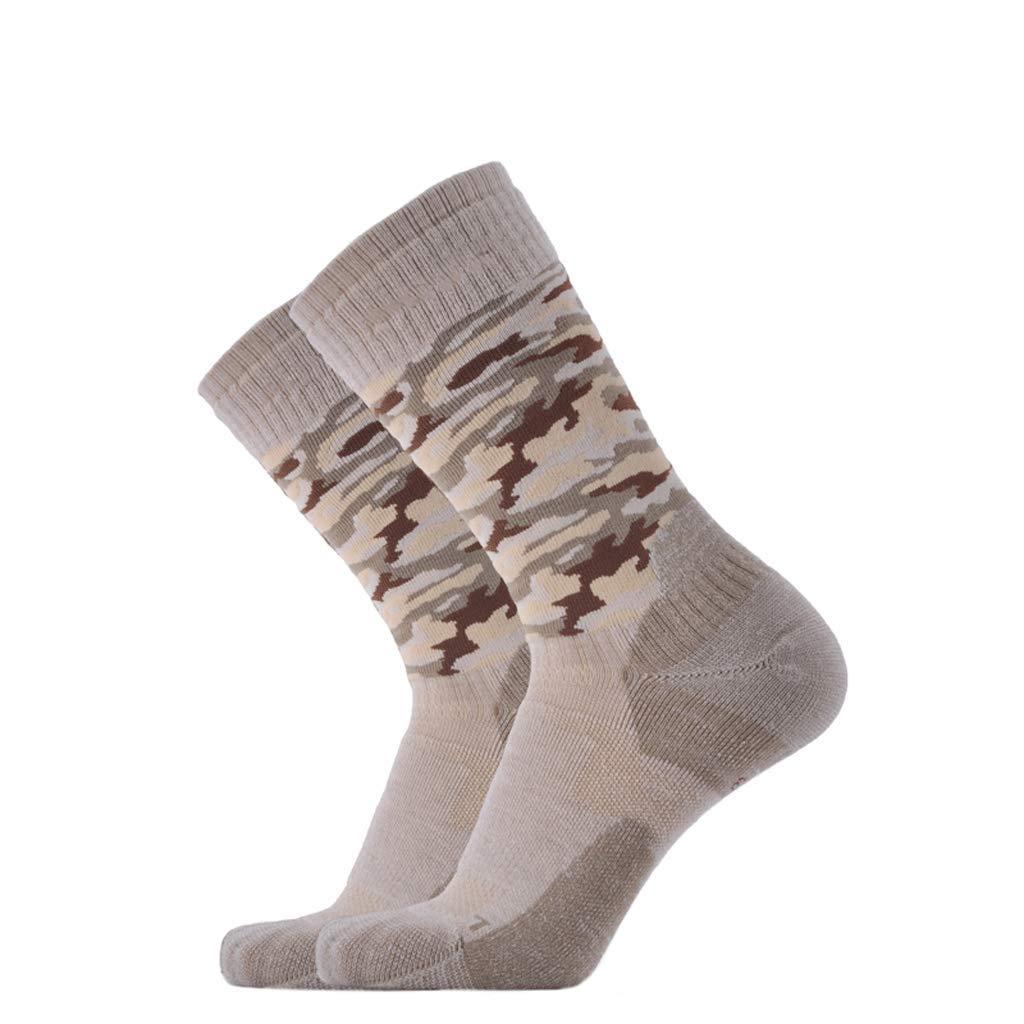 Männer und Frauen im Freien Feuchtigkeitstransport atmungsaktiv Merinowolle Sportsocken, schnell trocknende Socken warme Socken (Farbe   D(7pairs), Größe   L)