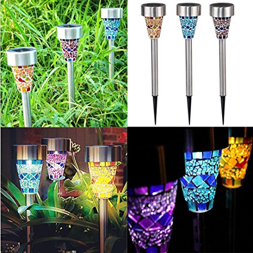 Outdoor Led Solar Lights With Built In Stakes - 1