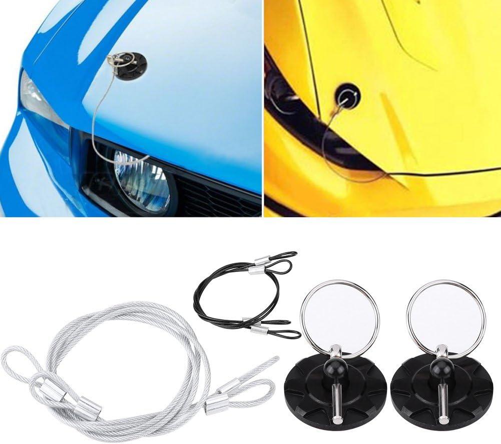 Car Hood Pin Lock Aluminum Alloy Hood Pin Kit Lock Clip Kit for Mostly Car Black