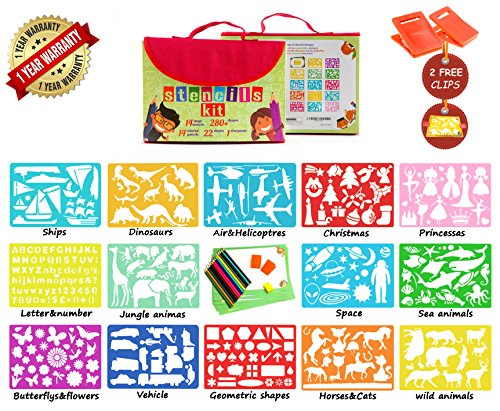 Art Supplies For Toddlers Large Drawing Stencils Travel Set Creativity Kid Gift