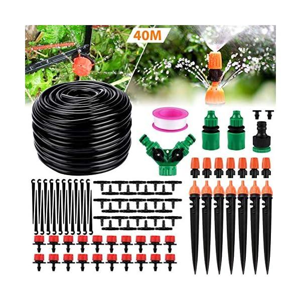 Kit per Irrigazione a Goccia,Emooqi Sistema Irrigazione, 40M DIY Kit di Micro Irrigazione Automatico Irrigazione Sistema… 1 spesavip