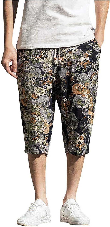 Pantalones Hombre Verano Casual Moda Algodón y Lino Pantalones ...