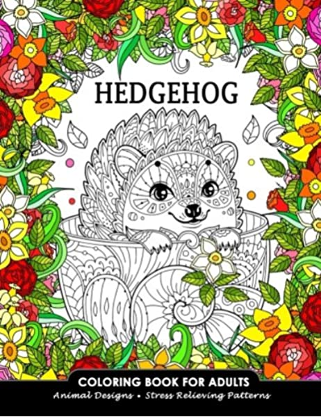 - Hedgehog Coloring Book For Adults: Animal Adults Coloring Book  (9781981105830): Balloon Publishing: Books - Amazon.com