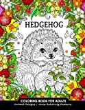 Hedgehog Coloring Book for Adults: Animal Adults Coloring Book