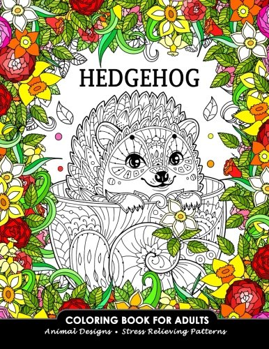 Summer Snowman (Hedgehog Coloring Book for Adults: Animal Adults Coloring Book)