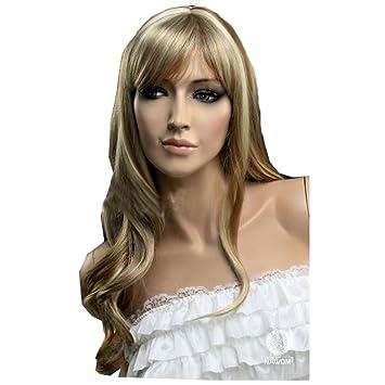 Amazon.com   KOLIGHT Hair Weaves Long Curly Blonde Women Girls Hair  Replacement with a Bang Wigs European -Free Cap+Comb   Beauty 058b37a594