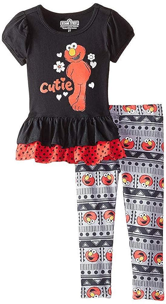 Sesame St Baby Girls' 2 Piece Cutie Elmo Legging Set