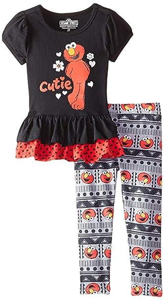 7de3c9feda0af Amazon.com: Sesame St Baby Girls' 2 Piece Cutie Elmo Legging Set ...