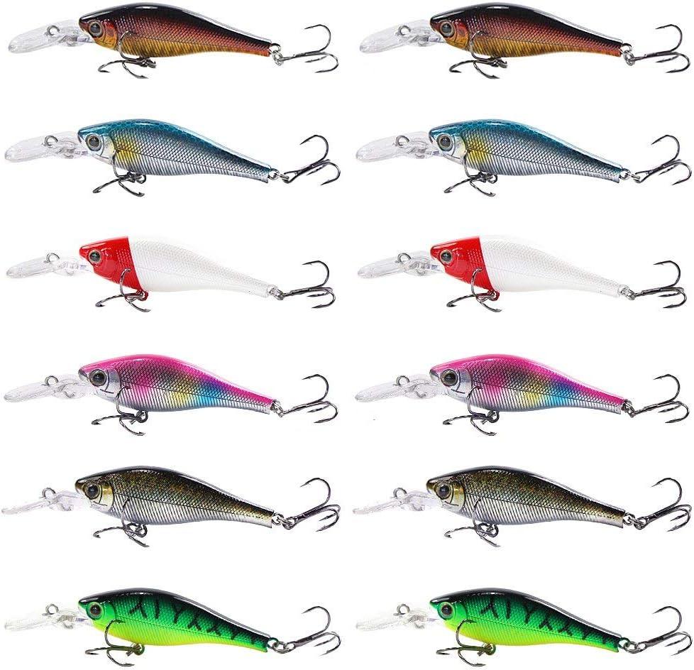 Portable10cm Artifical 6Segment Hard Bait Fishing Lures Bait Life-like Lure HA