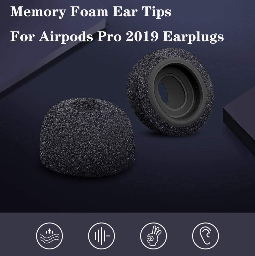 Ear Hook Covers for AirPods-Noise Isolation Silicone Earbuds Headset Earplug Cover Tips Accessories Compatible with AirPods Earphone Earpod Headphone