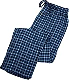 Fruit of the Loom - Mens Big Flannel Plaid Sleep Lounge Pant, Blue 39763-XX-Large