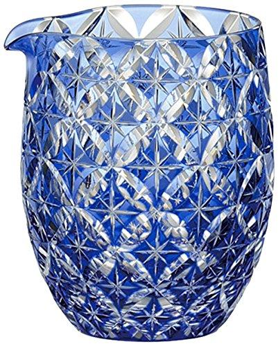 Kagami Crystal (KAGAMI CRYSTAL) Edo Kiriko cold sake Katakuchi < Cloisonne > traditional craftsmen Nabeya Satoshi 320cc J69-2715CCB