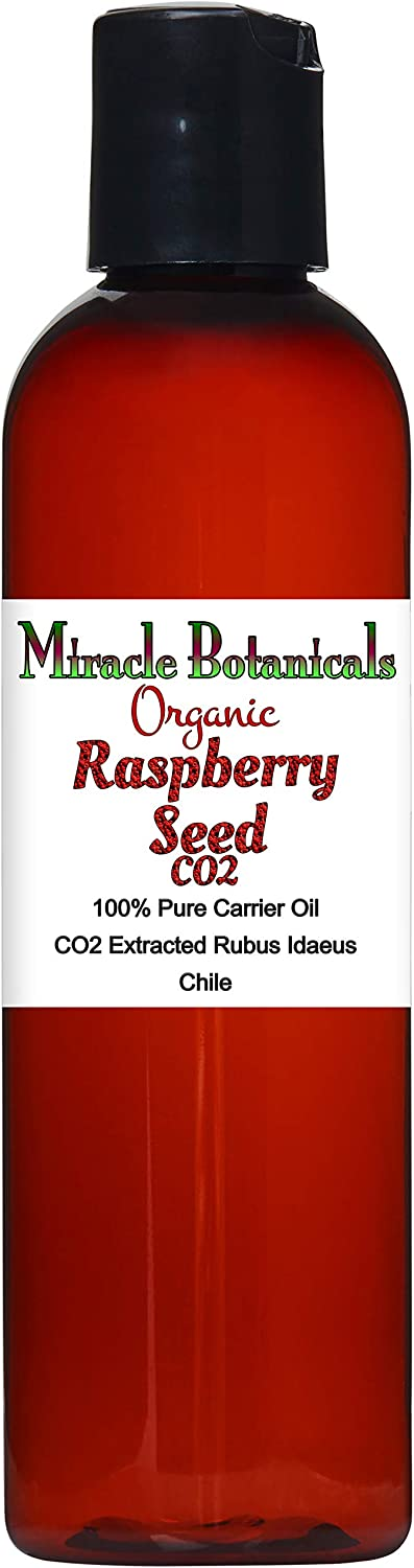 Miracle Botanicals Organic Raspberry Seed Oil Co2 Extract - 100% Pure Rubus Idaeus - Therapeutic Grade - 4oz.