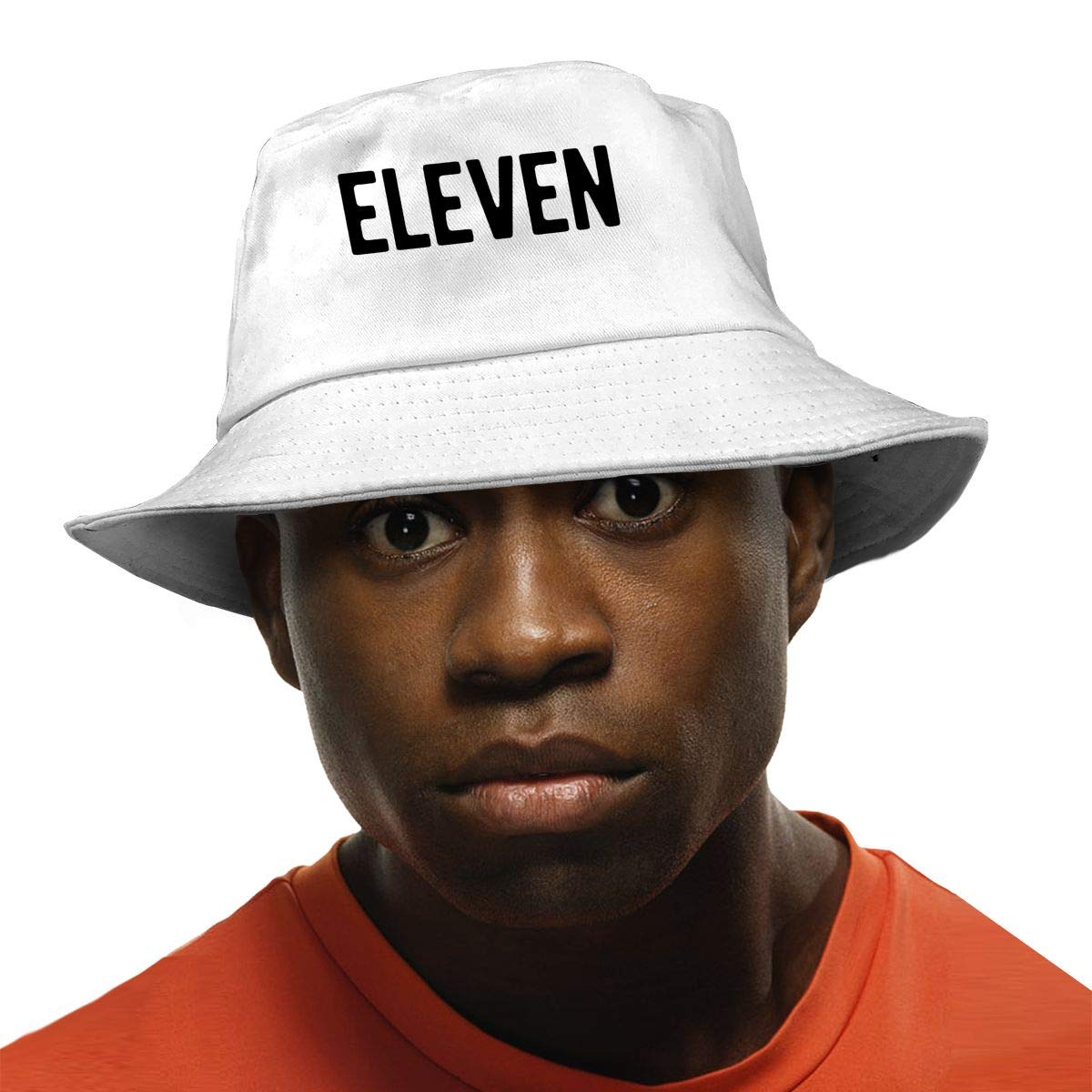 PPAN Eleven Unisex Cotton Packable White Travel Bucket Hat Fishing Cap