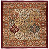 Cheap Safavieh Heritage Collection HG510B Handcrafted Traditional Oriental Multi and Red Wool Square Area Rug (8′ Square)