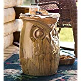 Ceramic Owl Side Table and Garden Stool