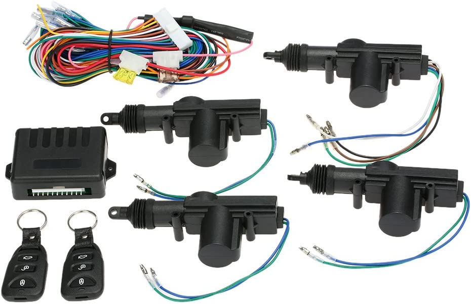 KKmoon - Mando a distancia para cerradura central del automóvil - Sistema de apertura sin llave Kit 2