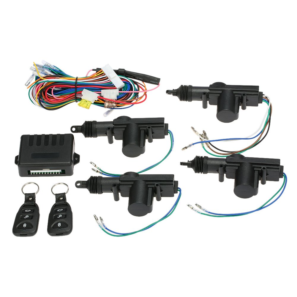 Remote Central Control Locking Kit with Trunk Release Button KKmoon Universal Car Door Lock Keyless Entry System with 4pcs Door Lock Actuator