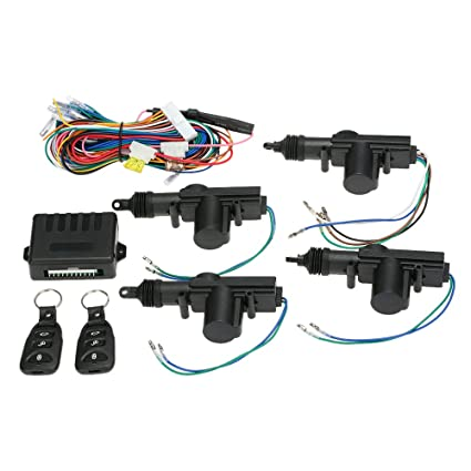 KKmoon Kit de Cerradura Bloqueo Central de Control Remoto con Botón de Libración Sistema de Entrada