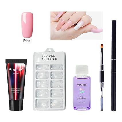 OKMINIOK - Kit de uñas 103 en 1 de poligel, para principiantes, extensiones de