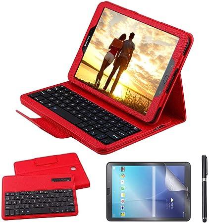 REAL-EAGLE Galaxy Tab S2 9.7 Teclado Funda(QWERTY), Funda de Cuero con Desmontable Inalámbrico Bluetooth Teclado para Samsung Galaxy Tab S2 9.7 ...