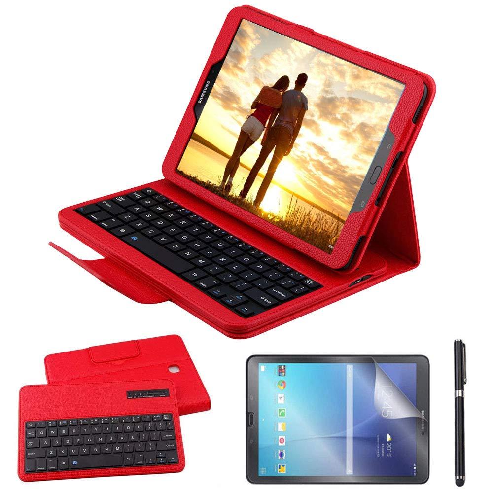 Custodia Galaxy Tab A 10.1 Bluetooth Tastiera con screen protector /& stylus REAL-EAGLE Pelle PU Custodia con Wireless Staccabile Keyboard per Samsung Galaxy Tab A6 10.1 2016 SM-T580//T585 Pink