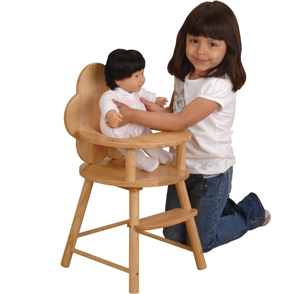 B0035Y46YE Cre8ive Minds Scalloped Back Doll High Chair with Tray, Ages 2 Years and Up 61pj2zrhfuL._SL1000_