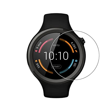 Moto 360 reloj Protector de pantalla – lokeke Premium templado vidrio Protector de pantalla película para