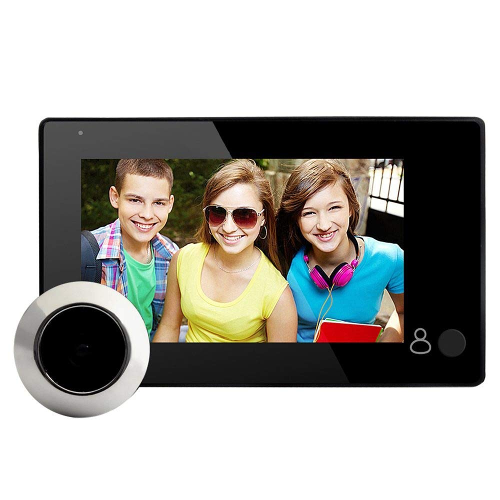 Daqin 4.3-inch LCD Digital Video Door Peephole Doorbell Camera Infrared Night Vision 145 Degrees Smart Doorbell Camera