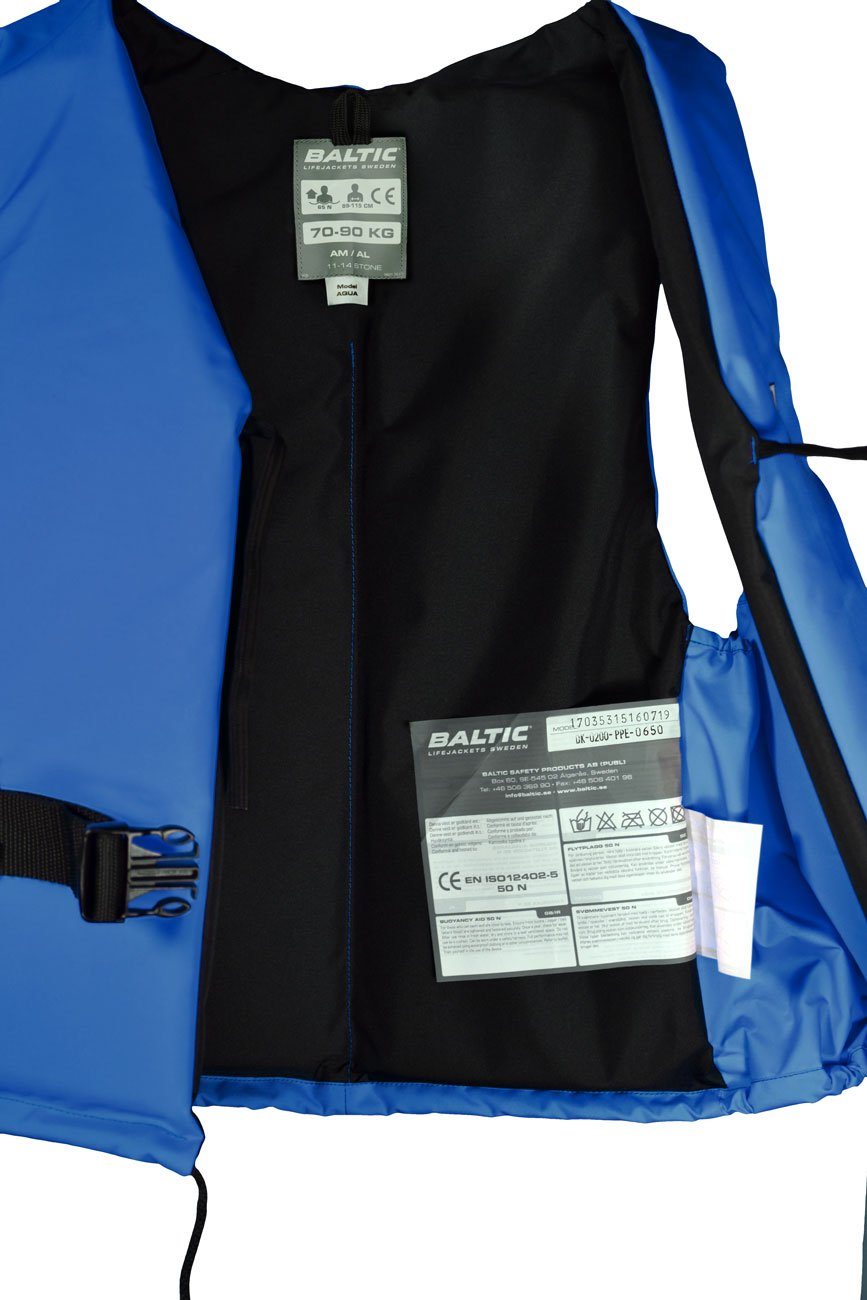 Taille:90kg+ Mod. 5315 azul Chaleco salvavidas Baltic Aqua