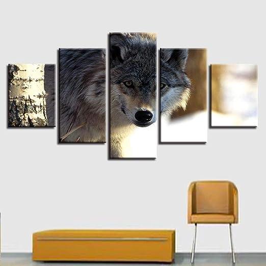 adgkitb canvas HD Imprime Arte Abstracto Cinco Piezas Impresiones ...