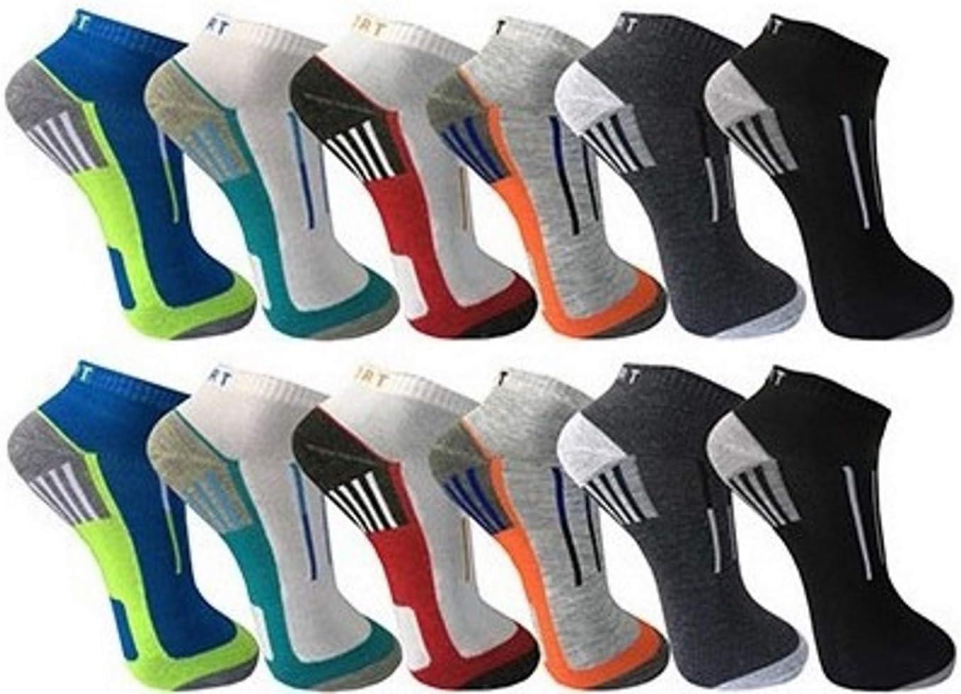 BestSale247 12 Paar Herren Sport Freizeit Sneaker Socken F/ü/ßlinge Baumwolle 39-42 ; 43-46