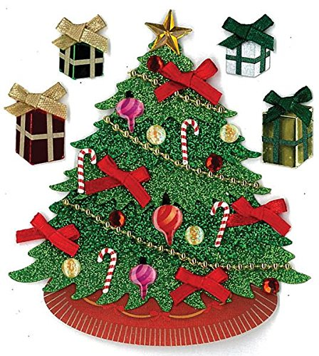 Tree Gift Sticker (Jolees Christmas Stickers, Classic Tree)
