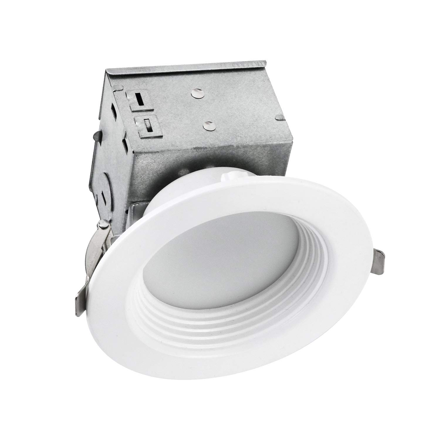 OSTWIN LED ダウンライト レトロフィット 内蔵 J-BOX 4インチ 1 Pack OW-LDLOBR-4D1050W 1 Pack 5000K (Daylight) B07M9XN4RV