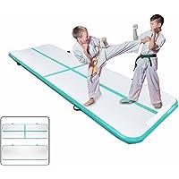 Popsport Gymnastics Tumbling Mats Series Tumbling Mat Gymnastics Mats Air Floor Mat for Gymnastics Training (3X0.9M,Green)
