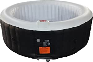 #WEJOY AquaSpa Portable Hot Tub 61 x 61 / 81.9 X 81.9 Inch Air Jet Spa 2-6 Person Inflatable Round Outdoor Heated Hot Tub Spa with 120 Bubble Jets