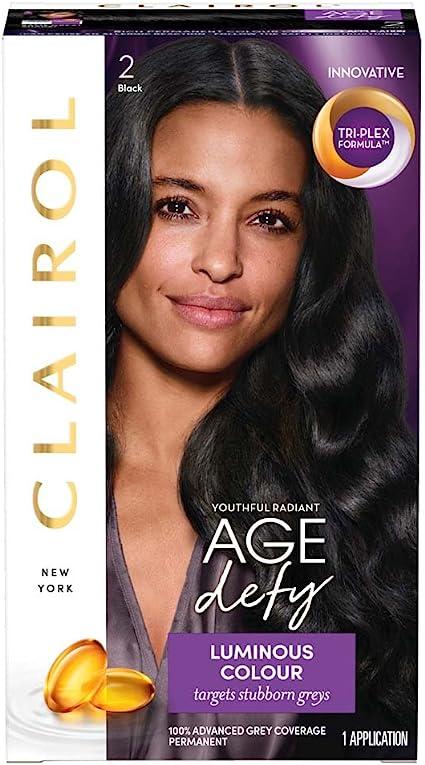Clairol Age Defy Tinte permanente para el cabello 2 Negro