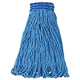 Rubbermaid Commercial E23800 BL00 RCPE238 Universal Headband Mop Head, Cotton/Synthetic, 24 oz., Blue (Pack of 12)