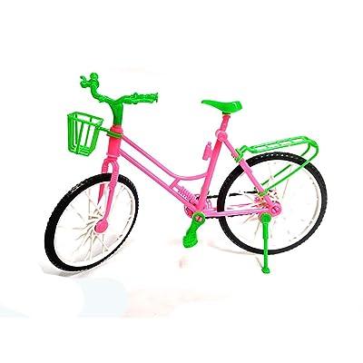 1pc Los niños de simulación Miniatura muñecas de Bicicletas Accesorios de Bicicleta de Juegos de Creative Niños Niñas L de Juguete de Regalo: Juguetes y juegos