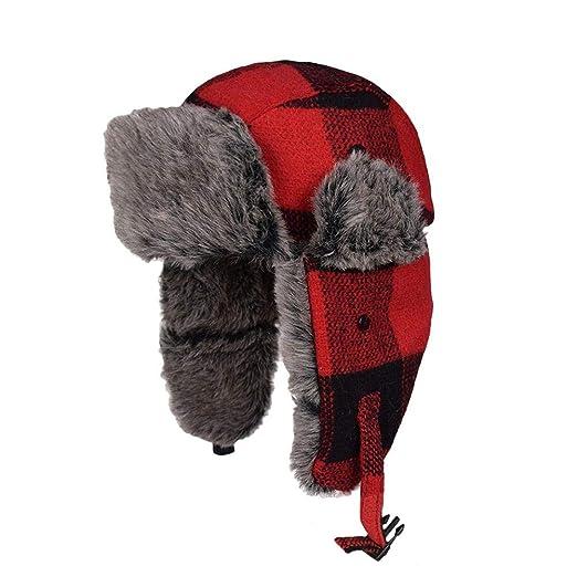 Molie Trapper Hat con piel sintética engrosado terciopelo volando ...