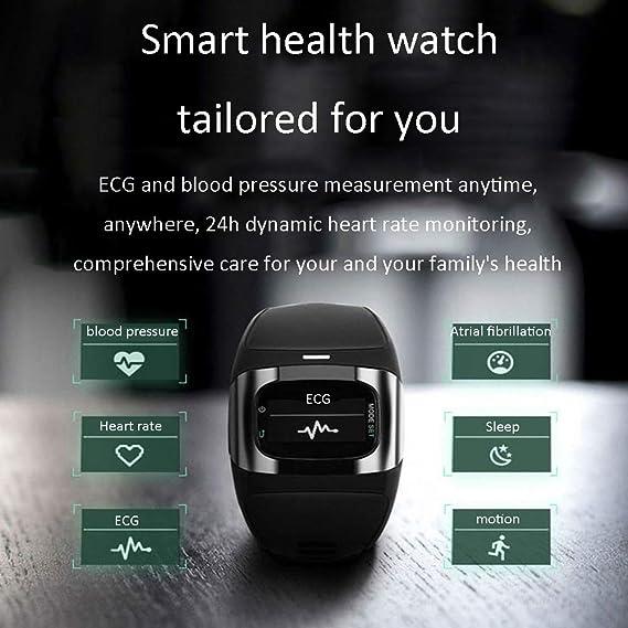 Amazon com : KASIQIWA Intelligent Health Watch, ECG Analysis