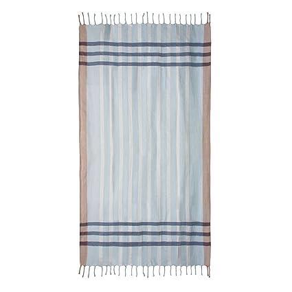"""Toalla Pareo """"Scotland"""" Celeste, 100x200 cm - Foutas, pareos y toallas"""