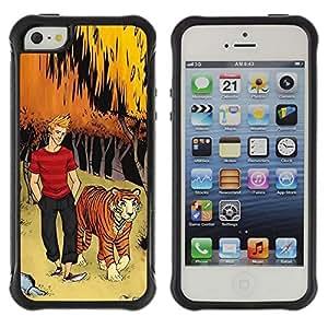 LASTONE PHONE CASE / Suave Silicona Caso Carcasa de Caucho Funda para Apple Iphone 5 / 5S / tiger bow forest man dude boy kids