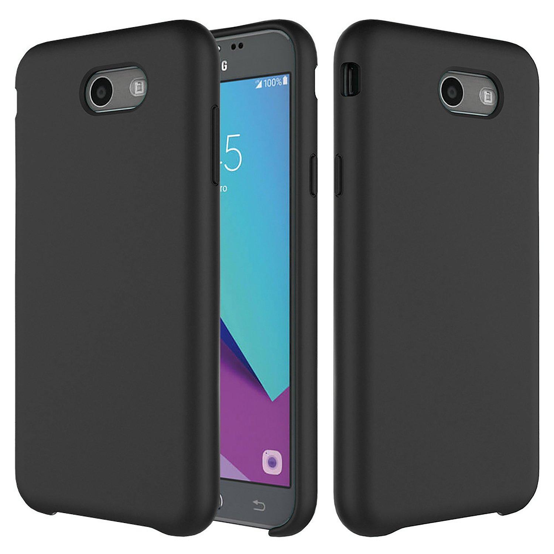 sale retailer 4e811 2a8e8 Setber Liquid Silicone Case for Galaxy J7 Case, Rubber Shockproof with Soft  Microfiber Cloth Lining Cushion for Samsung Galaxy J7 2017/J7 V/J7 Sky ...