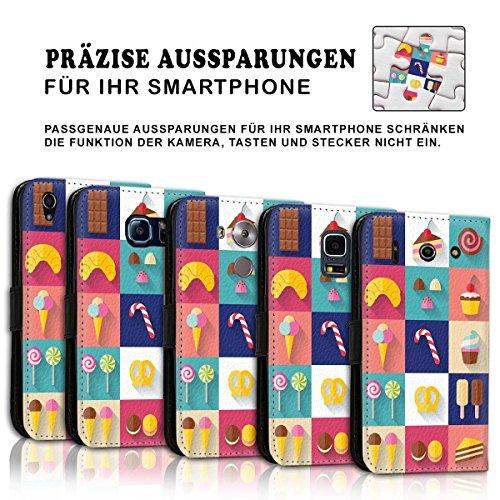 Wallet Book Style Flip Handy Tasche Case Schutz Hülle Schale Motiv Etui für Apple iPhone 6 Plus / 6S Plus - Design Flip MVD94
